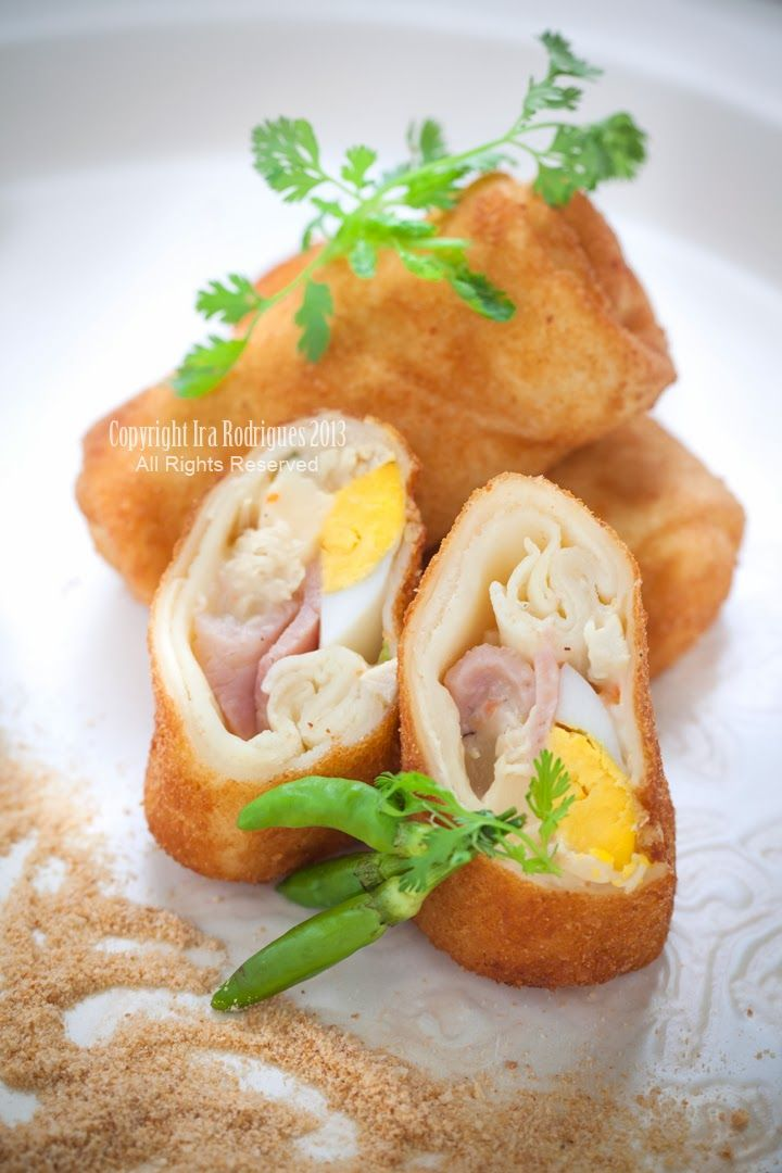 Chicken Risoles | Ira Rodrigues  Chicken resoles is a deep-fried snack, is just like soft spring rolls with creamy filling. It is an addictive snack that makes you asking some more once you have a bite and perhaps you'll disregards the sins by having deep-fried snack!