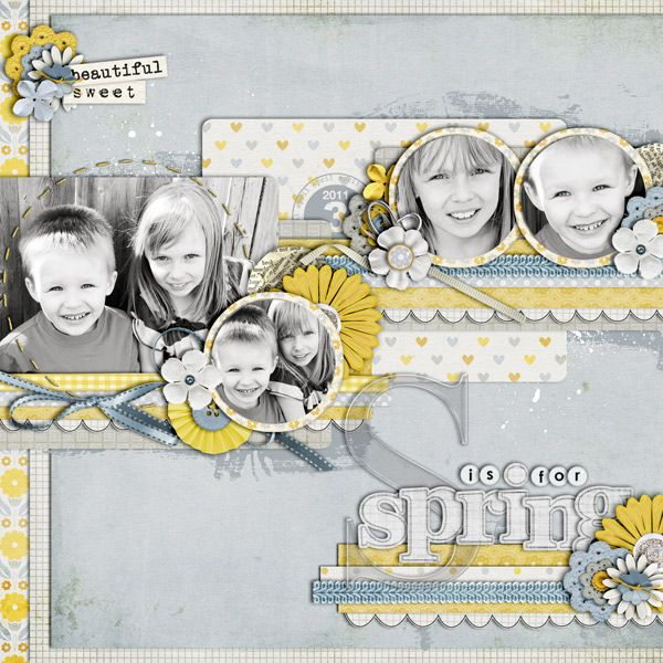 Used the following from the Sweet Shoppe:    Cindy's Layered Templates - Set 109 by Cindy Schneider    A Sweet Day - Fee Jardine  Happy Days alpha (recolored) - Fee Jardine  My Girl Alpha - Fee Jardine  Blue Trim - Kristin CB  Xtreme Acrylic Alpha - Traci Reed  Small White Flower - Zoe Pearn  White Flower, Small Paper Flowers - Dani Mogstad