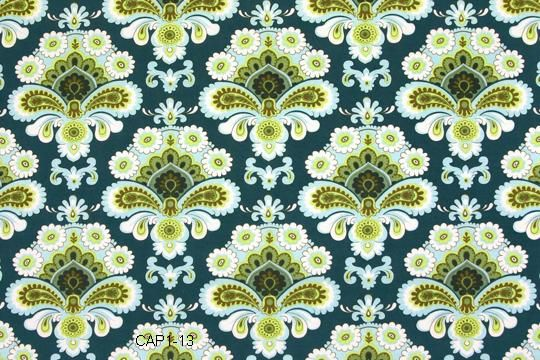 Amy Butler Fabric - French Wallpaper in Spruce from Belle
