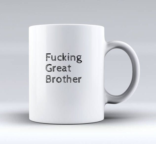 Funny Brother Gifts,Fucking Great Brother! Brother Gift Ideas,Little Brother Gifts,Big Brother Gifts,brother mug,Brother Humor,Brother Present,brother humor card,inappropriate gifts families