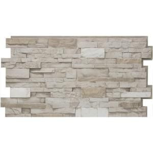 Urestone 24 in. x 48 in. Stacked Stone #45 Almond Taupe Stone Veneer Panel 00799932569029 at The Home Depot - Mobile