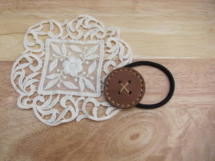 leather button rubber band