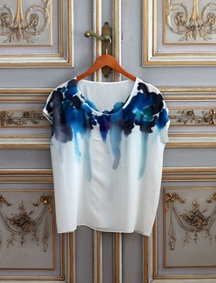 watercolor tshirt.  you could never wash it, but it sure is pretty!