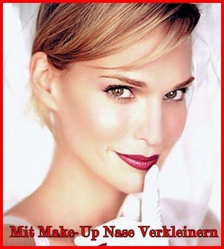 Mode Germany: Mit Make-Up Nase verkleinern  #makeup #beauty #mode