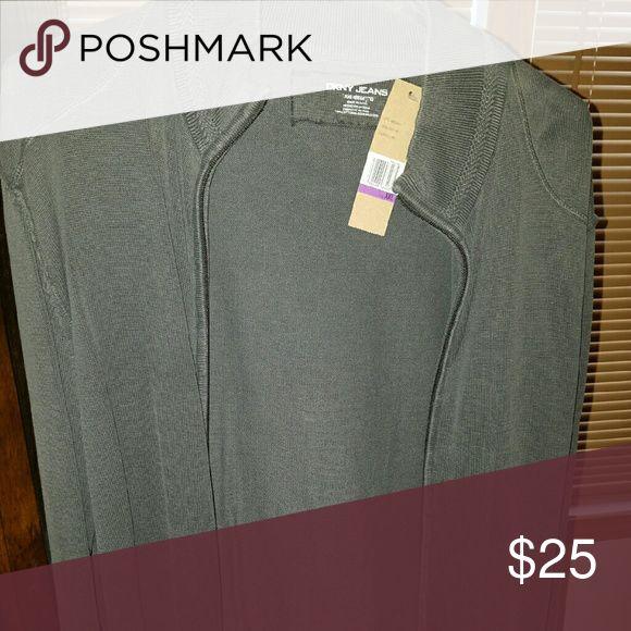 DKNYJEANS Mens Zip Cardigan DKNYJEANS Gray Mens Zip Csr6 DKNYJEANS  Sweaters Zip Up