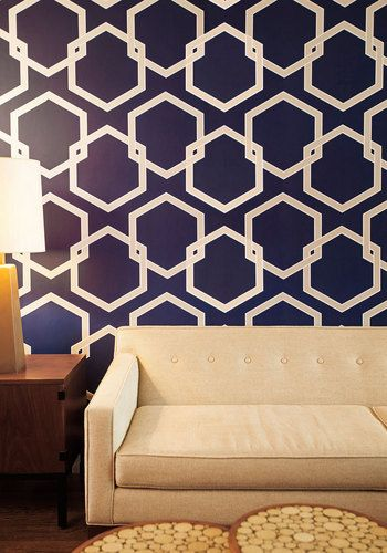 Great for renters or if you don't want to rip down wallpaper when you tire of it. Oak Park Temporary Wallpaper in Blue, #ModCloth