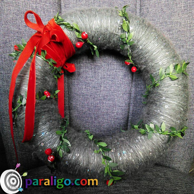 Christmas wreath! #christmaswreath, #paraligo www.paraligo.com