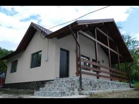 Preturi constructii case lemn la cheie - prezentarea casei de la Valcane...