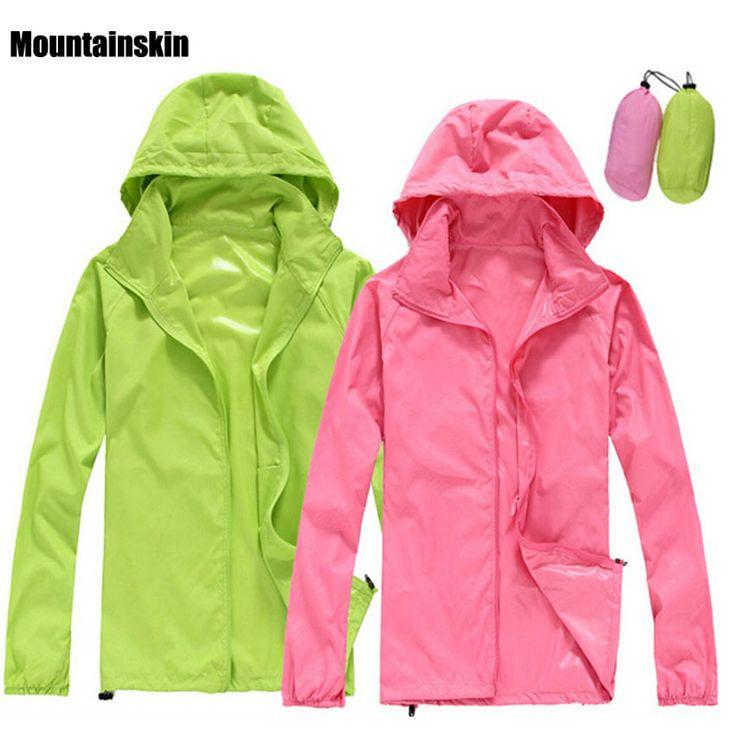 2017 Men Women Quick dry Hiking Jackets Outdoor Sport Skin Dust Coat Thin Waterproof UV Protection Camping Coats Asian 3XL RW011