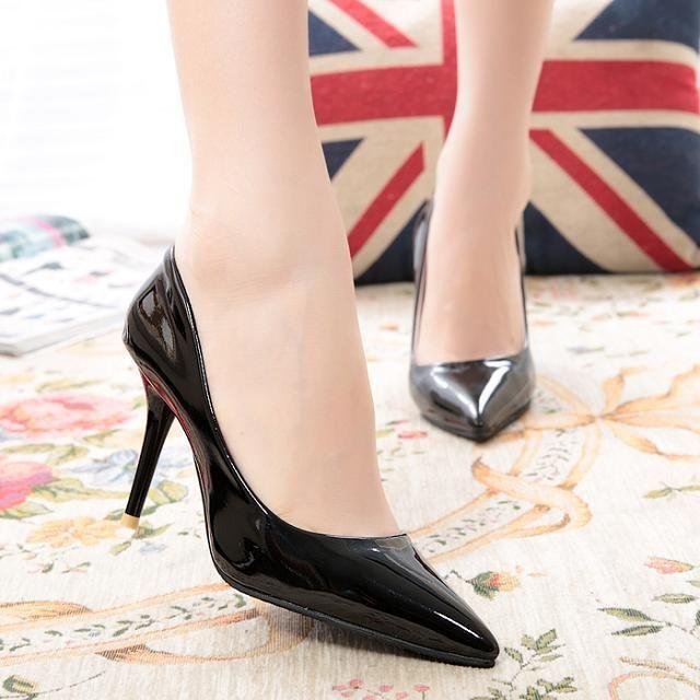 Zapatos Mujer 2014 Мода Sexy Острым Носом Сладкий Красочные Тонкие Высокие Каблуки ОЛ Обувь женская Насосы Ню Обувь #897