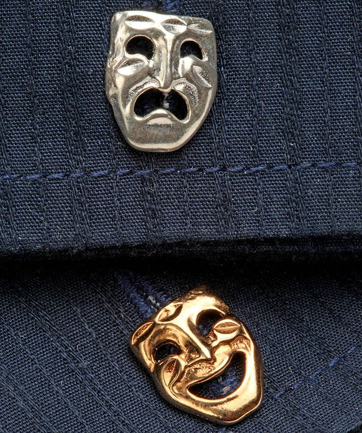Comi Tragedy Cufflinks In Gold And Silver £135