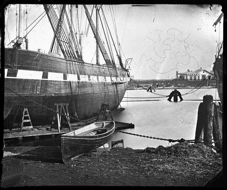 Westerdok, Amsterdam 1862. Foto: Jacob Olie