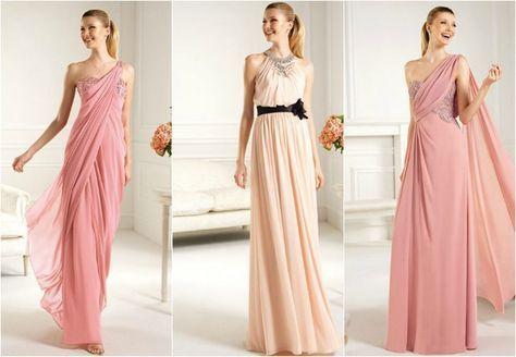Algunos vestidos al estilo griego para las invitadas a la boda - moda-para-ellas.com - Revista de moda femenina