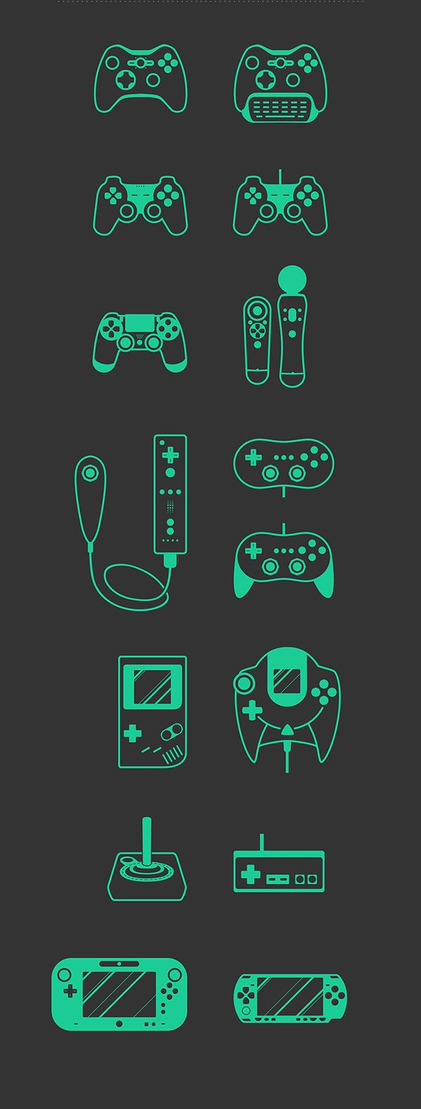 Vector game set. Free PSD