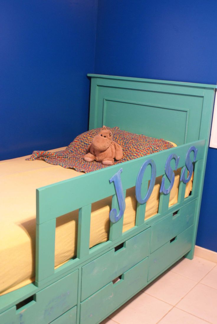 best  toddler bed with storage ideas on pinterest  small  - dresser under bed makes it easy for caden to pick his own clothes out joss