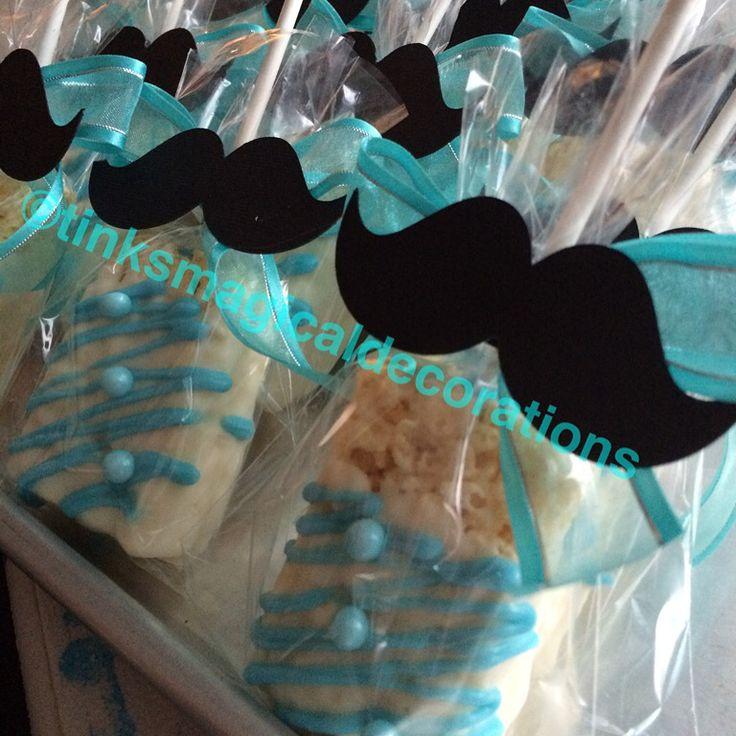 Mustache Rice Krispies Apples And Rice Krispies