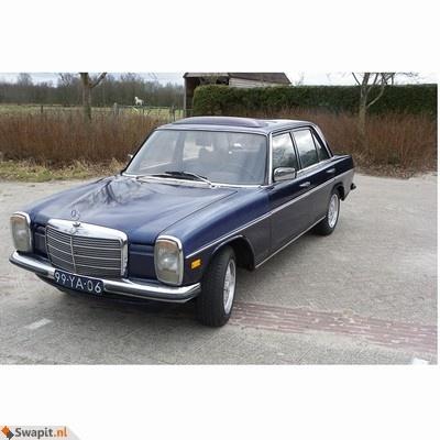 Mercedes W115 200D uit 1975 ruilen voor oldtimer op gas of diesel of een andere leuke auto