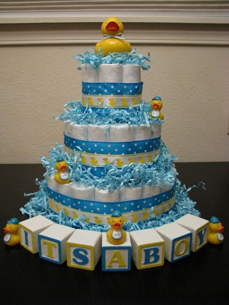 rubber duck baby shower diaper cake | Rubber ducky diaper cake