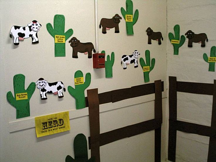 western bulletin board borders images | Cowboy and Western Themed Bulletin Boards