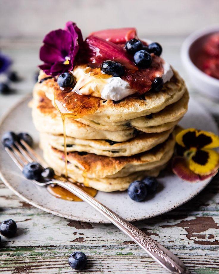 These Blueberry Almond Pancakes