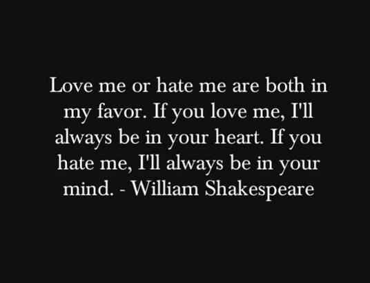 Love Hate Relationship Quotes: Love Vs Hate Quotes. QuotesGram