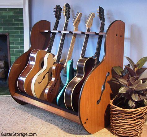 wood multiple guitar stand the session standard home pinterest. Black Bedroom Furniture Sets. Home Design Ideas