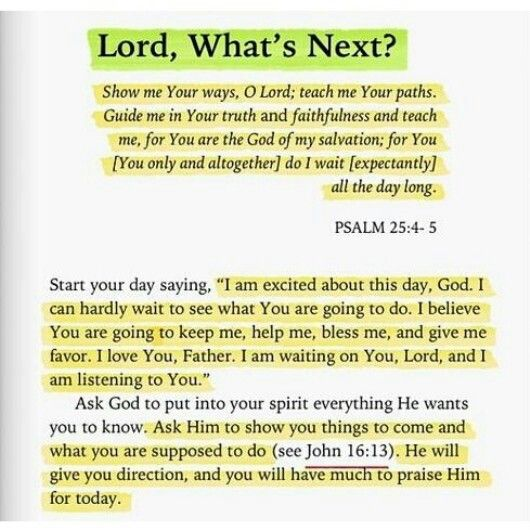 .Lord, what next?