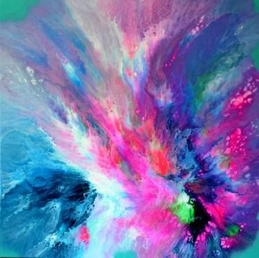 """Saatchi Art Artist Soos Tiberiu; Painting, """"Dreaming in a Dream - XL 100x100 cm Big Painting, Large Abstract Painting - Ready to Hang, Canvas Wall Decoration"""" #art"""