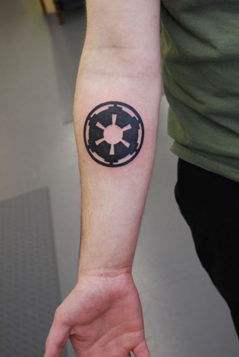 I would like get the emblem of the Galactic Empire tattooed on my left shoulder blade at some point in time.