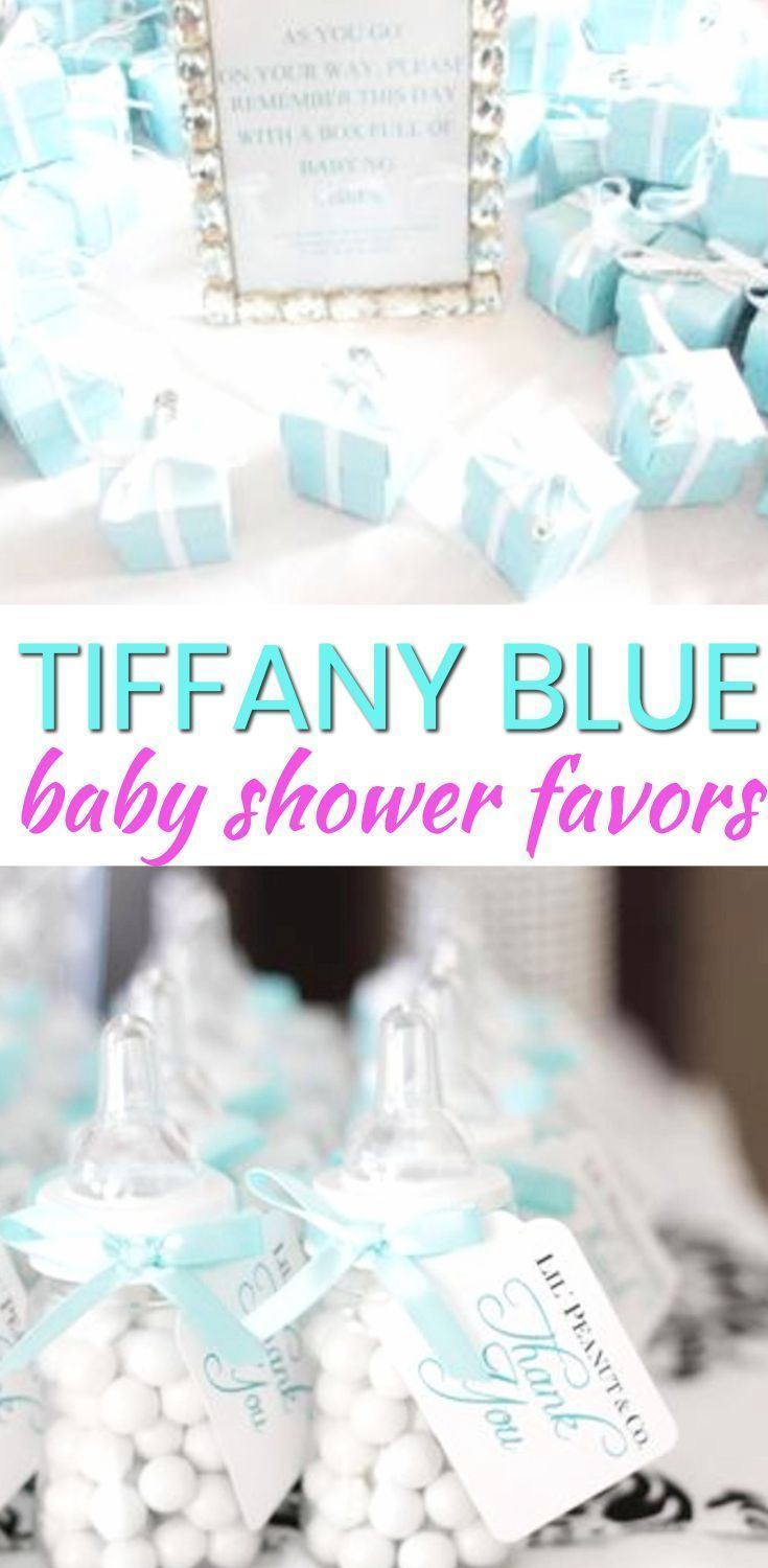 Baby Shower Favor Ideas! The best Tiffany Blue baby shower favors! Amazing boys baby shower favors as well as the coolest girls baby shower favors. Find gender neutral ideas for your guests at your Tiffany Blue theme baby shower. From DIY ideas to candles to soap to lotion to candy that are cheap, unique and classy. Find the best baby shower favor ideas now! #girlbabyshowers #candleideas #babyshowerthemes