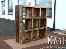 "biblioteczka 9  ""Loft Colors"" recykling M-12"