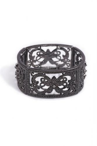 Vintage Cutout Detail Diamante Bracelet