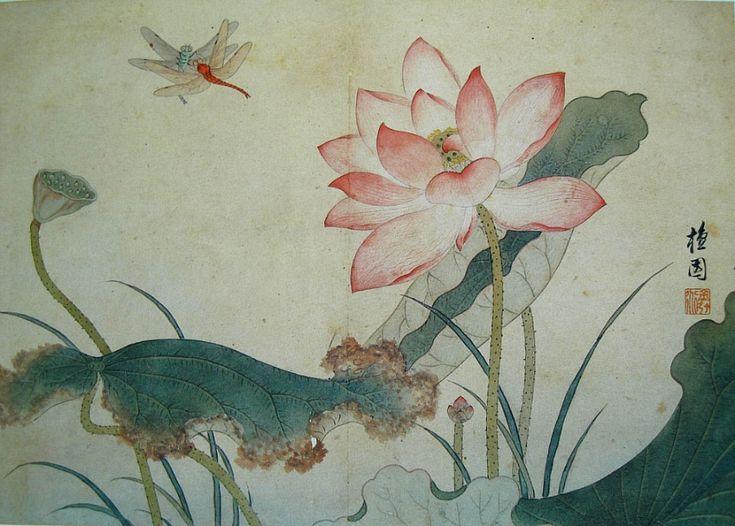 kim hong do korean lotus painting - Google Search