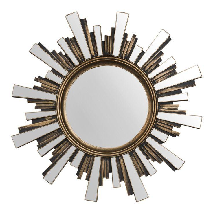 Antique Effect Gold Sunburst Mirror ...