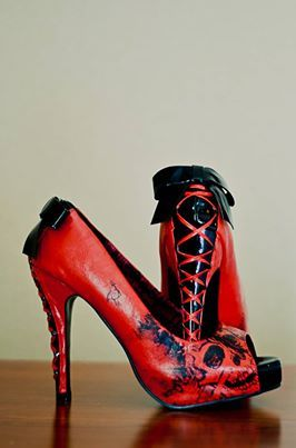 Red lace-ups from Iron Fist.