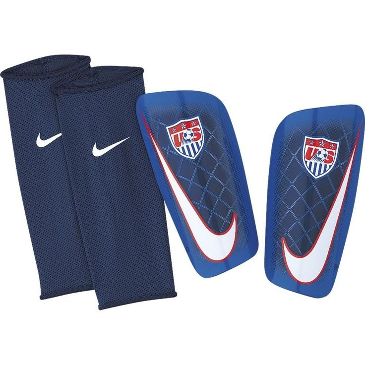 NIKE USA SOCCER TEAM MERCURIAL LITE SHINGUARD ULTRALIGHT PROTECTION The USA Soccer Team Mercurial Lite Soccer Shin Guards (One Pair) feature a convenient slip-in sleeve for strapless comfort and a low