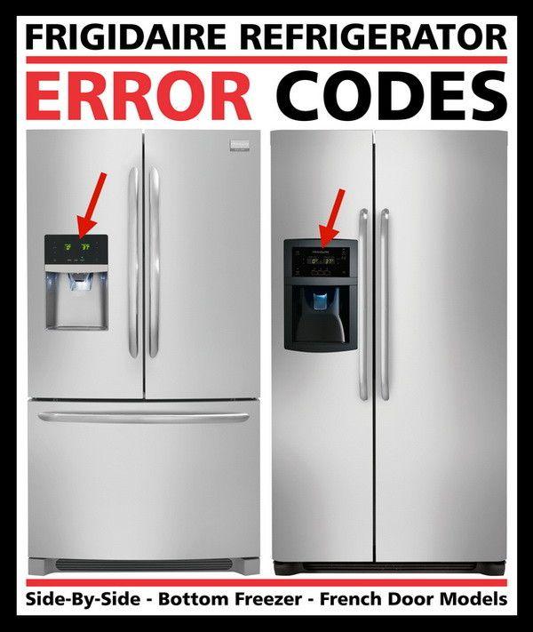 Frigidaire Refrigerator Error Codes Fault Codes Diy