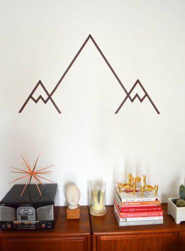 Mountain tape wall art