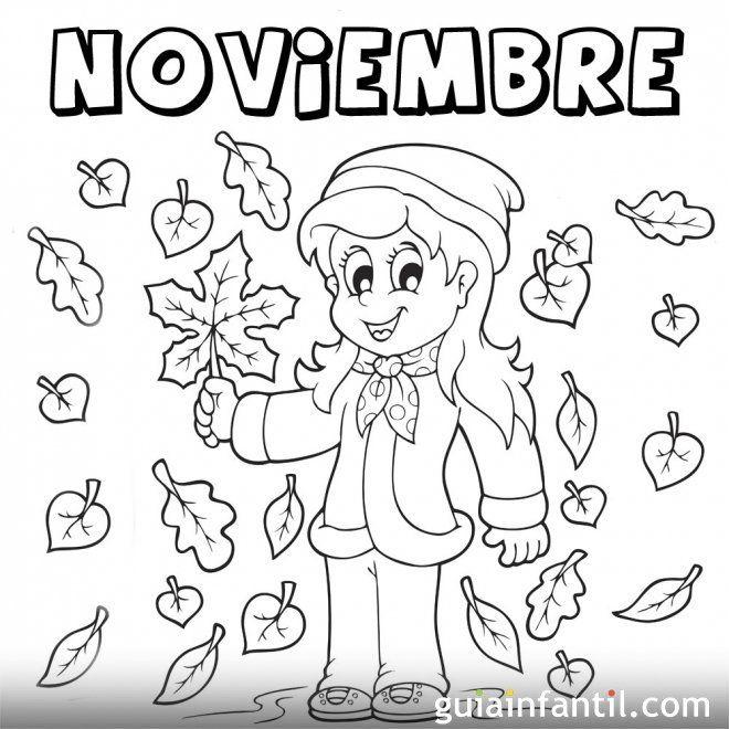 Https Www Guiainfantil Com Mes De Noviembre De 2013 Para Colorear Portadas De Noviembre Noviembre Efemerides De Noviembre