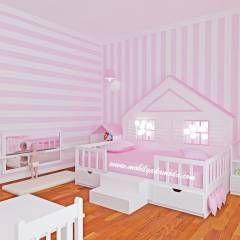 MOBİLYADA MODA  - Montessori Bebek Çocuk Odası: Modern tarz Çocuk Odası