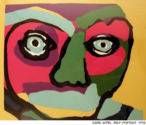Karel Appel self-portrait
