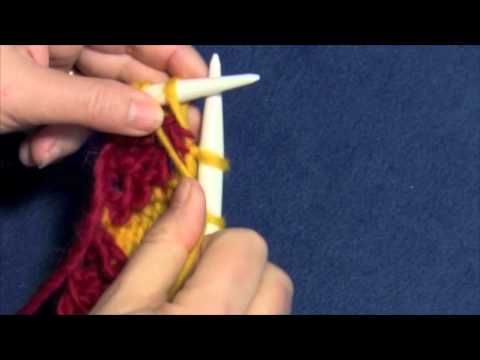 """Learn how to knit entrelac right edge triangles with Part Four of Planet Purl's six-part how-to video, taught by Beth Moriarty, author of """"Deep South Knitting."""""""