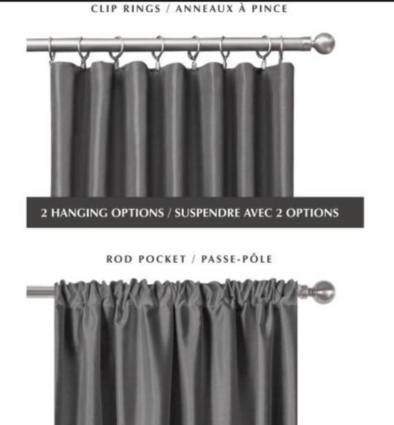 Color Block Drapes Curtains Custom Lengths Extra Long Extra Wide Linen Lined Grey Charcoal Ivory Beige Off White Tall High Duo Color Panels Drapes Curtains Curtains Custom Drapes