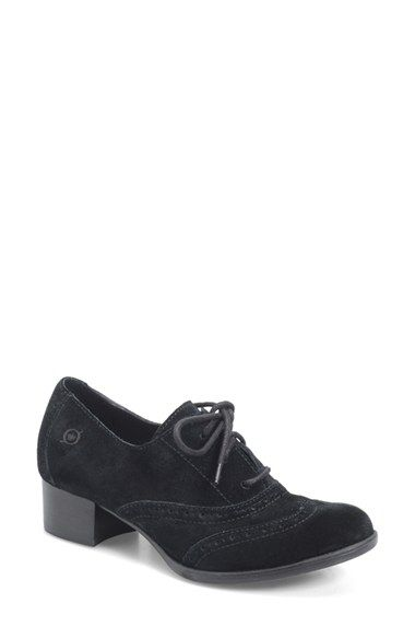 Børn 'Naleigh' Oxford Pump (Women) in black suede | Nordstrom - I have these in black leather - so comfy!