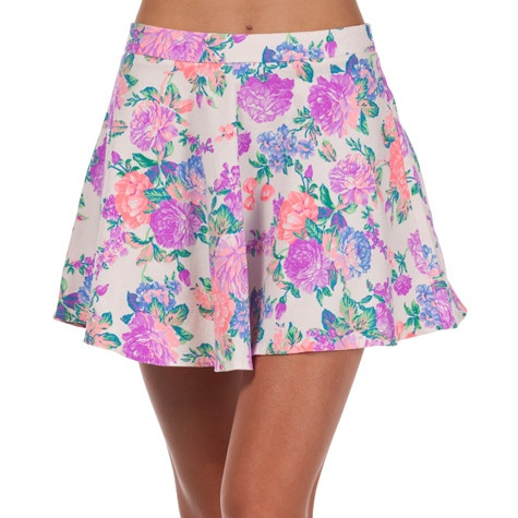 Mooloola Electric Feel Skater skirt, in neon floral print, AU$39.99 from City Beach, Australia.