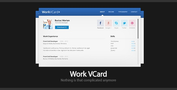 Work - Virtual Business Card Template