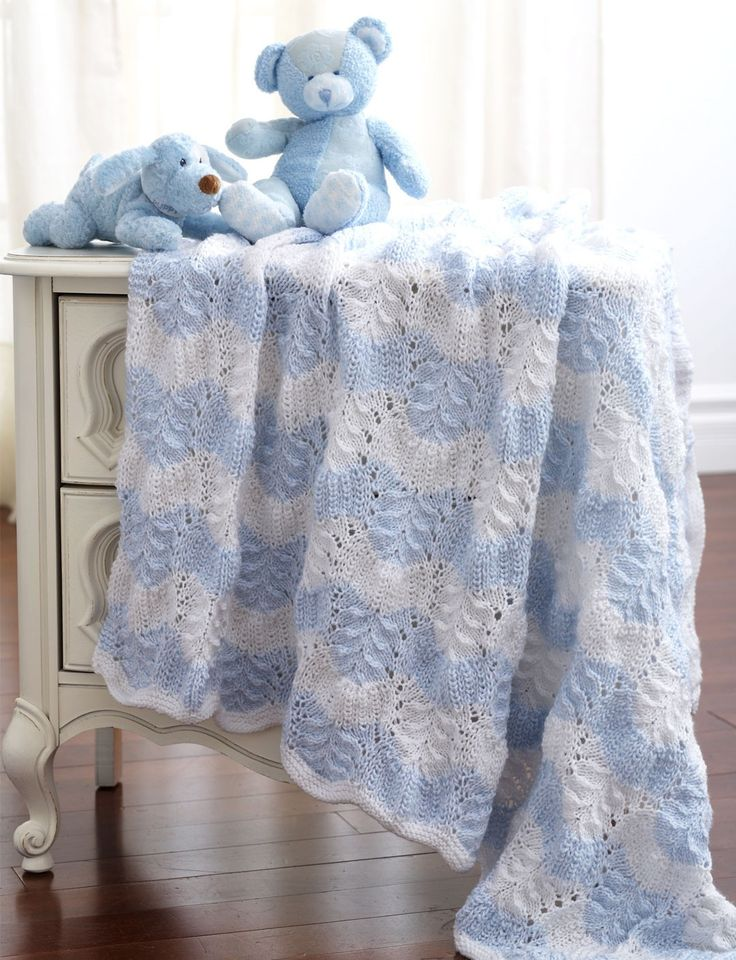 Yarnspirations Com Bernat Feather And Fan Blanket To