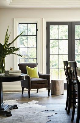 black window panes, doors, and trim: my newest obsession