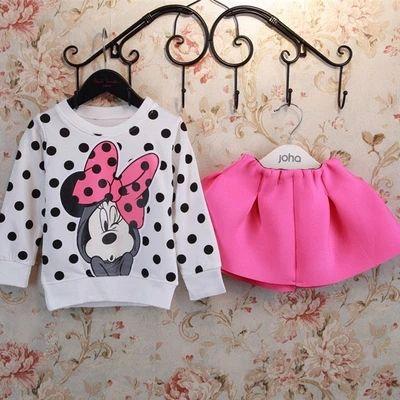 Бесплатная доставка новорожденных девочек одежда детей костюм для малыша девушка свободного покроя хлопок футболки + юбка дети одежда комплект AQZ115, принадлежащий категории Комплекты одежды и относящийся к Одежда и аксессуары на сайте AliExpress.com   Alibaba Group