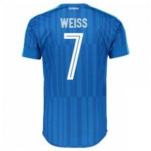 Slovakia National Team 2016 Away Jersey Blue Soccer Shirt #7 Weiss [E344]